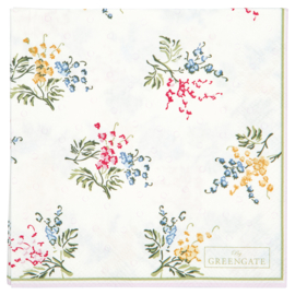 GreenGate Paper Napkin Mira white Small 20 pcs