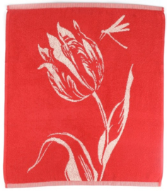 Bunzlau Kitchen Towel Tulips Red