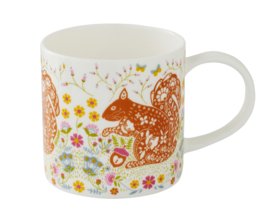 Ulster Weavers Straight Sided Mug Woodland Squirrel -Model A-