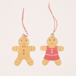 Sass & Belle Gift Tags Roger & Dolly Gingerbread Man -Set of 6-