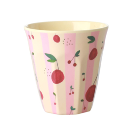 Rice Medium Melamine Cup with Cherry Print