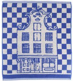 Bunzlau Kitchen Towel Canal Houses Royal Blue