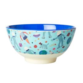Rice Medium Melamine Bowl - Space Print