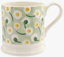 Emma Bridgewater Daisy Light Green 1/2 Pint Mug -blok sponge ware-