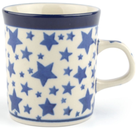 Bunzlau Straight Mug Small 150 ml White Stars