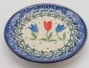 Bunzlau Teabag Dish 10 cm Tulip Royal -Limited Edition-