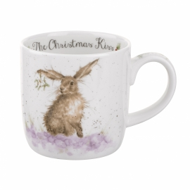 Wrendale Designs The Christmas Kiss Christmas Mug