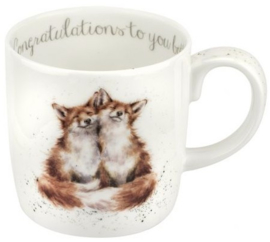 Wrendale Designs Large 'Congratulations to you both' Mug -Fox-