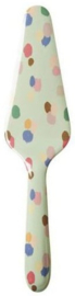Rice Melamine Cake Server Dapper Dots Print 'Stay Outstanding'