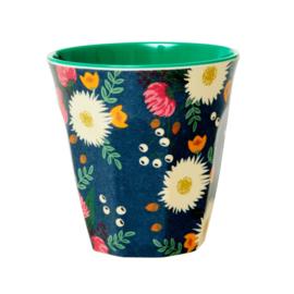 Rice Medium Melamine Cup - Wedding Bouquet Print