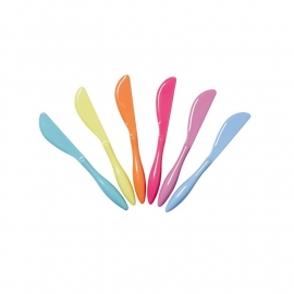 Rice Melamine Butter Knives in 6 Assorted 'Go for the Fun' Colors