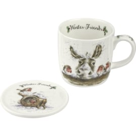 Wrendale Designs Winter Friends Mug & Coaster Set
