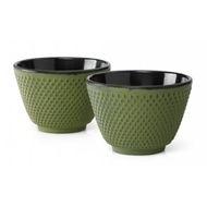 Bredemeijer Cast Iron Tea Cups -set of 2- Xilin Green