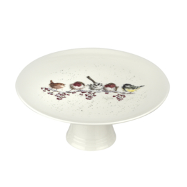 Wrendale Designs One Snowy Day Christmas Footed Cake Stand