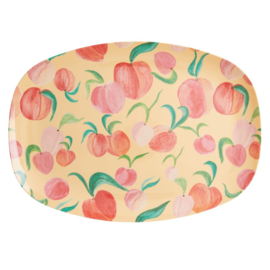 Rice Melamine Rectangular Plate - Peach Print