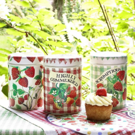 Emma Bridgewater Strawberries Set of 3 Tin Caddies