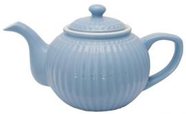GreenGate Teapot Alice sky blue -stoneware-