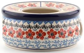 Bunzlau Tea Stove for Teapot 3000 ml Red Violets
