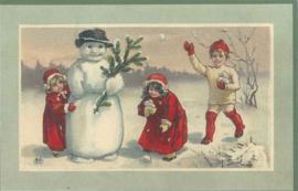 Meander Ansichtkaart Sneeuwpret