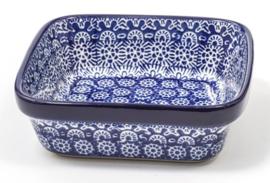 Bunzlau Square Bowl Large 13x13 cm  Lace