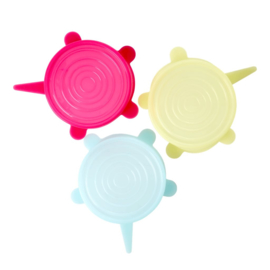 Rice Silicone Lid for Small Melamine Bowl in 3 Assorted Colors