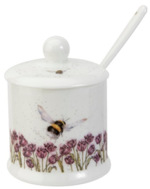 Wrendale Designs 'Flight of the Bumblebee' Conserve Pot and Spoon