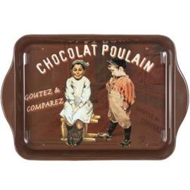 Dienblaadje metaal 21 x 14 cm Chocolat Poulain