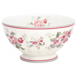 GreenGate French Bowl Extra Large Elouise white -stoneware-
