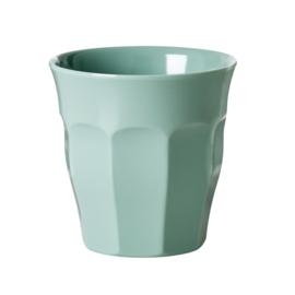 Rice Solid Colored Medium Melamine Cup in Khaki