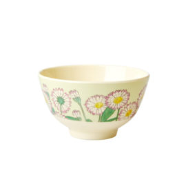 Rice Small Melamine Bowl - Two Tone - Daisy Print