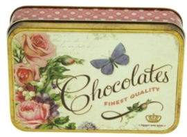 Meander Blikje Chocolates Fine Quality Vlinder - Nostalgia