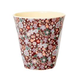 Rice Medium Melamine Cup - Fall Floral Print