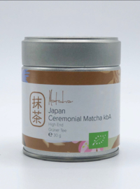 Dames van de Thee -Ceremonial Matcha High End- blikje 30 gram -bio- (THT 5-12-2020)