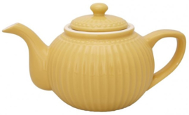 GreenGate Teapot Alice honey mustard -stoneware-