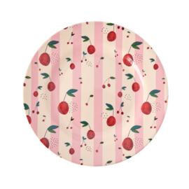 Rice Melamine Side Plate with Cherry Print -bord met rand-