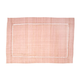 Rice Raffia Placemat in Soft Pink