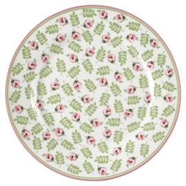 GreenGate Plate Lily petit white -stoneware-