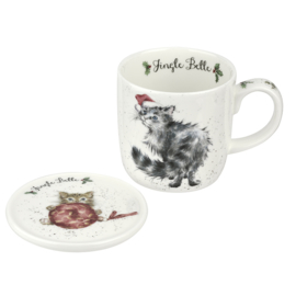 Wrendale Designs Jingle Belle Mug & Coaster Set