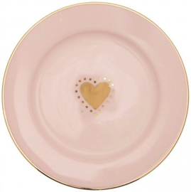 GreenGate Small Plate Penny gold -stoneware-