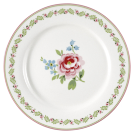 GreenGate Dinnerplate Lily petit white -stoneware-
