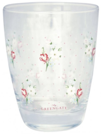 GreenGate Water Glass Eja white