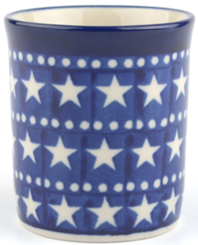 Bunzlau Straight Mug Small 150 ml Blue Stars