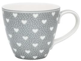 GreenGate Mug Penny grey -stoneware-