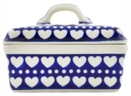 Bunzlau Butter Dish Blue Valentine
