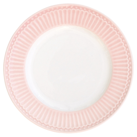 GreenGate Small Plate Alice pale pink -stoneware-