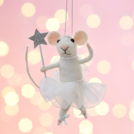 Sass & Belle Fairy Mouse with Star Wand Felt Hanging Decoration