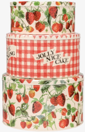 Emma Bridgewater Strawberries Set of 3 Round Cake Tins
