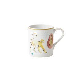 Rice Straight Porcelain Mug - Monkey Print - 350 ml - Special Edition
