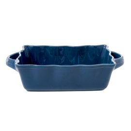 Rice Medium Stoneware Oven Dish in Dark Blue