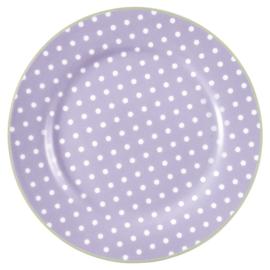 GreenGate Plate Spot lavender -stoneware-